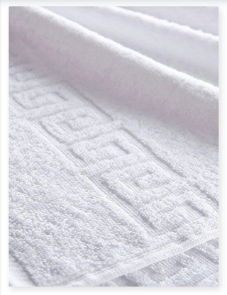 Terry towel for hotels, bleached, density 400 g / m2 (single loop)