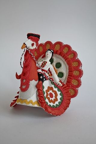 Turkey with Timoshka. Doll Dymkovo reasons.