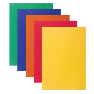 Colored paper, SMALL FORMAT, A5, VELVET self-ADHESIVE, 5 sheets of 5 colors, 110 g/m2, INLANDIA