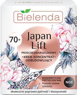Regenerating anti-wrinkle cream for the face 70+ day, SPF 6 , JAPAN LIFT, BIELENDA 50ml
