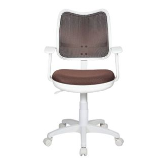 Chair CH-W797 / BR with armrests, brown, plastic white