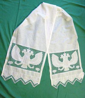 Towel with openwork