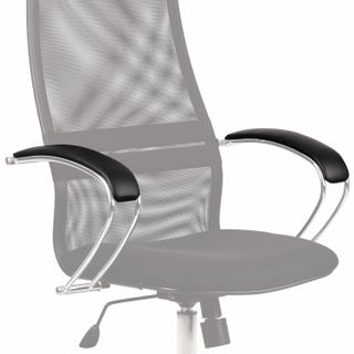 The linings are soft on the armrests of the Metta chairs of the BK series, BP, BC, LK, 2 pieces, eco-cos, black