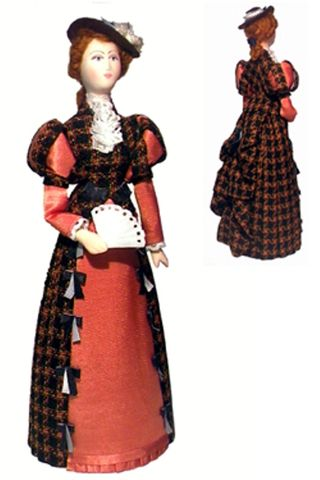 Day women's costume of the Late 19th century - St. Petersburg .Doll gift