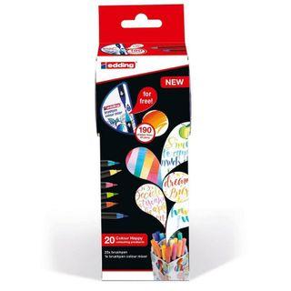 Edding / Set Сolor Happy, 20 items + Mixer of colors Brushpen Color Mixer Assorted
