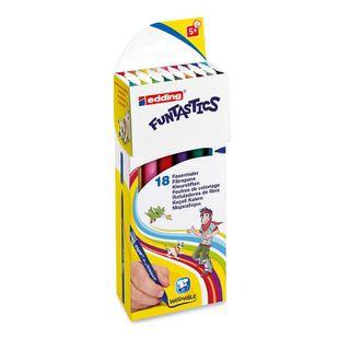 Edding / Funtastics Drawing Pen Set, 1mm, 18 Colors, 18 Colors Carton