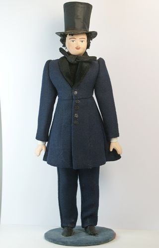 Doll gift porcelain. Dandy. The secular male costume. 1st half of the 19th century, Russia.