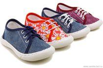 Low shoes textile for children