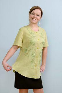 Blouse womens linen 9-587