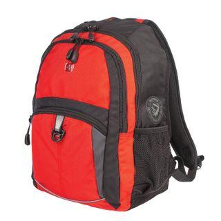 WENGER backpack, universal, orange-black, grey inserts, 22 l, 33х15х45 cm