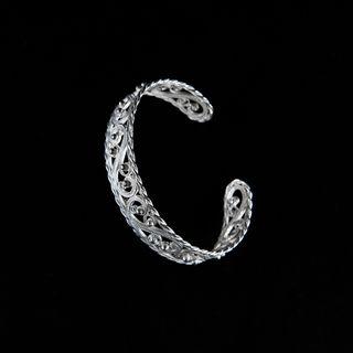 "Bracelet ""Autumn 2"" silvering, Kazakovo Filigree"