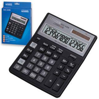 Desktop calculator CITIZEN SDC-435N (204х158 mm), 16 digits, dual power supply