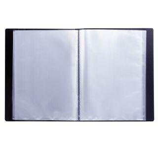 Folder 60 liners BRAUBERG standard, black, 0.8 mm