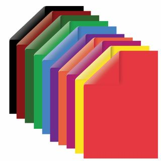 Cardboard A4 colored TINTED, 10 sheets, 10 colors, 180 g/m2, BRAUBERG