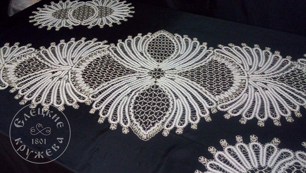 """Yelets lace / Set for the sofa """"Lace tracks"""""""