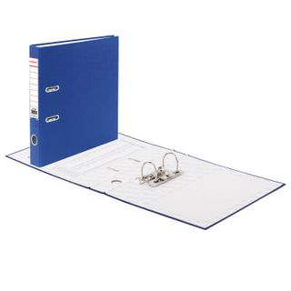 Folder-Registrar BRAUBERG with PVC coating, 50 mm, blue (double life)