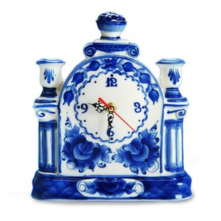 Mantel clock Debut 2nd grade, Gzhel Porcelain factory