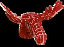 3D figure - Elk Head KV Red