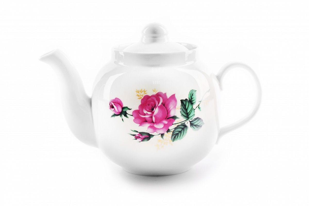 Dulevo Porcelain / Teapot 700 ml Amber Wild Rose Economy