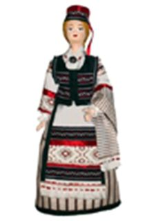 Doll gift porcelain. Lithuania. Women's traditionalismum.