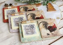 Large gift magnet with rooster background mix