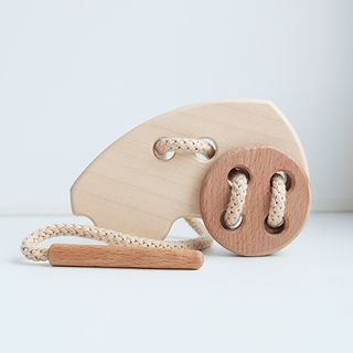 "Lanyard ""Machine"" - developing children's wooden toy"