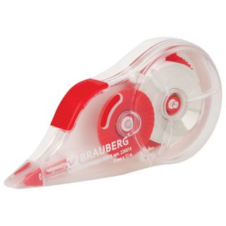 BRAUBERG correction tape 5 mm x 12 meters, body transparent, with twisting, blister
