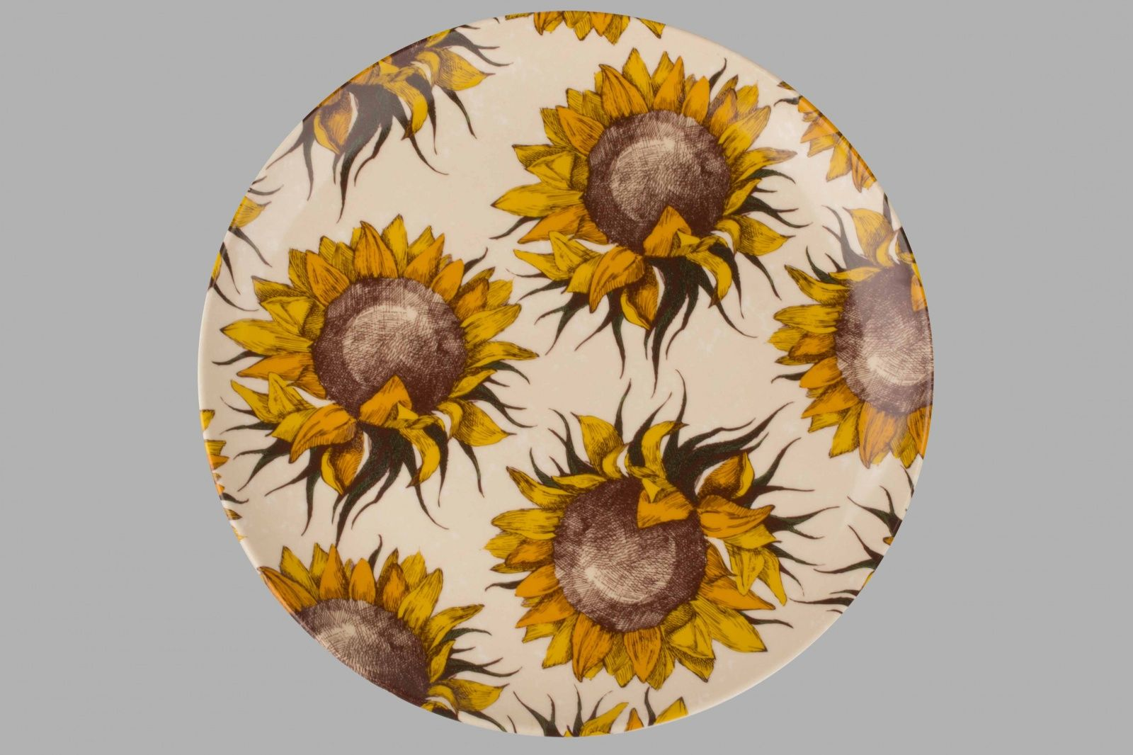 Dulevo porcelain / Plate 270 mm Sunflowers (Ceramics)