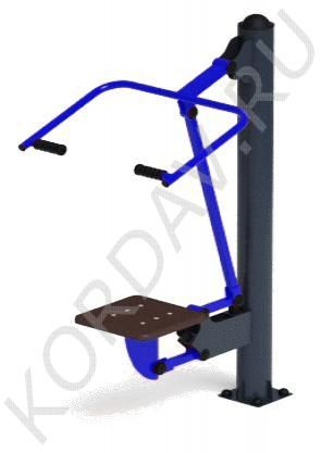 Top - street simulator allows you to increase the muscle mass of the back and arms