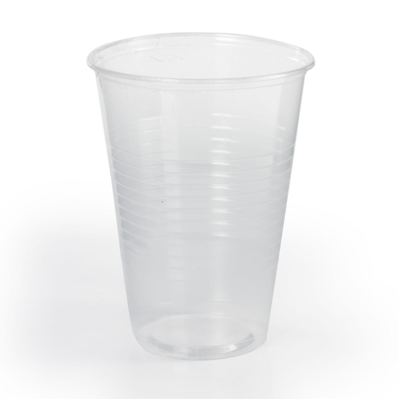 """LIMA / Disposable glasses 200 ml, SET 100 pcs., Plastic, """"BUDGET"""", transparent, PP, cold / hot"""