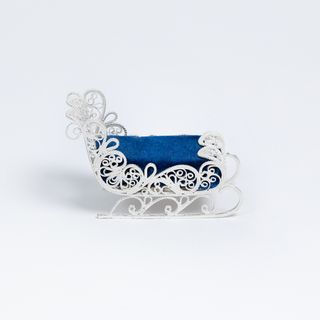 "Kazakovskaya Filigree / Pin cushion ""Sanki"" silvering"