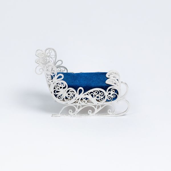 "Kazakovskaya Filigree / Pin cushion ""Sanki"" silvering"