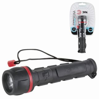 ERA / LED Flashlight R2AA, 3 x LED, rubberized housing, 2xAA power supply (not included)