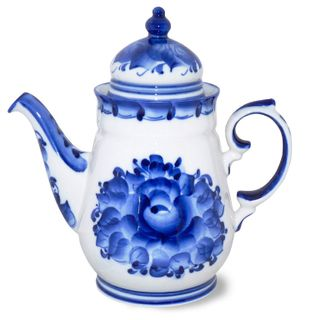 Kettle enchantress 1st grade, Gzhel Porcelain factory