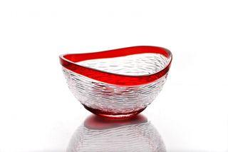 """Crystal vase for fruit """"Serenade"""" red"""
