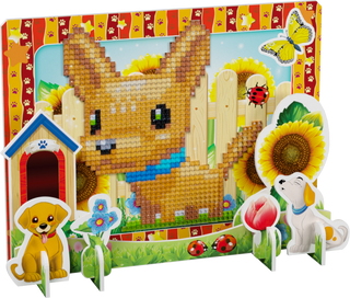 3D puzzle with diamond mosaic: Dog Chang