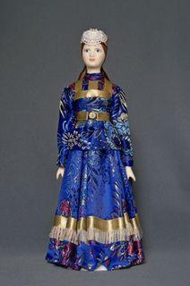 Kargopol maiden costume, styling. Doll gift