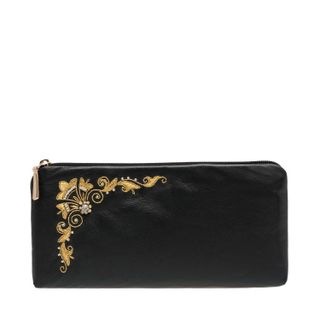 """Leather eyeglass case """"Shining"""" with gold embroidery"""