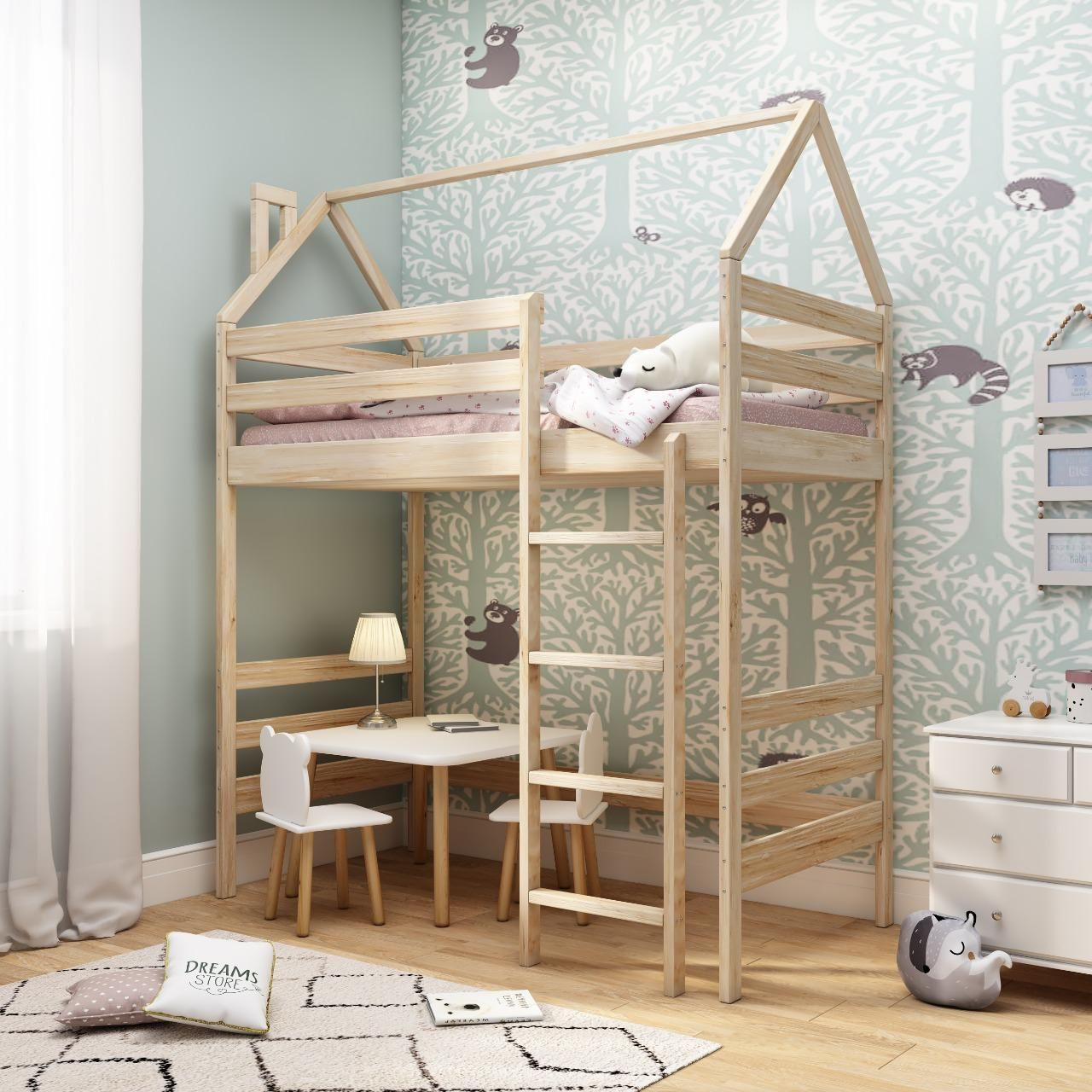 Dreams Store / Loft bed in natural color
