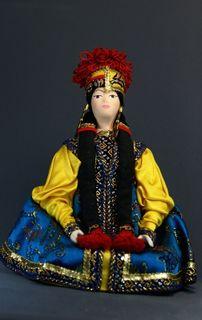Doll gift porcelain. The Kalmyk. Festive costume girls.