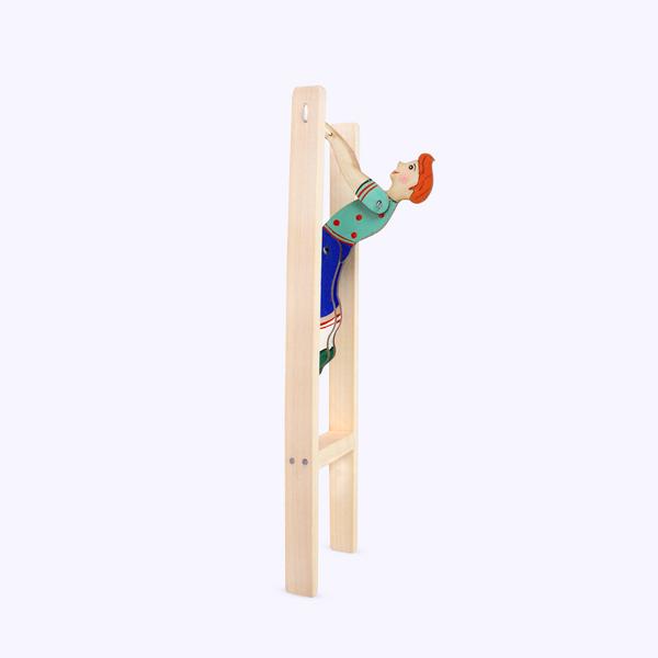 Bogorodskaya toy / Wooden souvenir 'Gymnast'