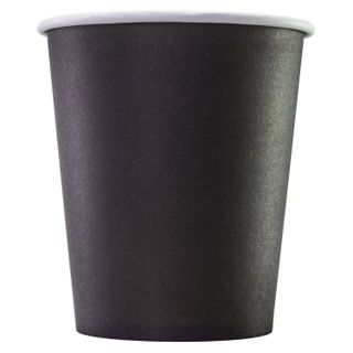 FORMATION / Disposable cups 250 ml, SET 75 pcs., Paper single-layer, BLACK, cold / hot