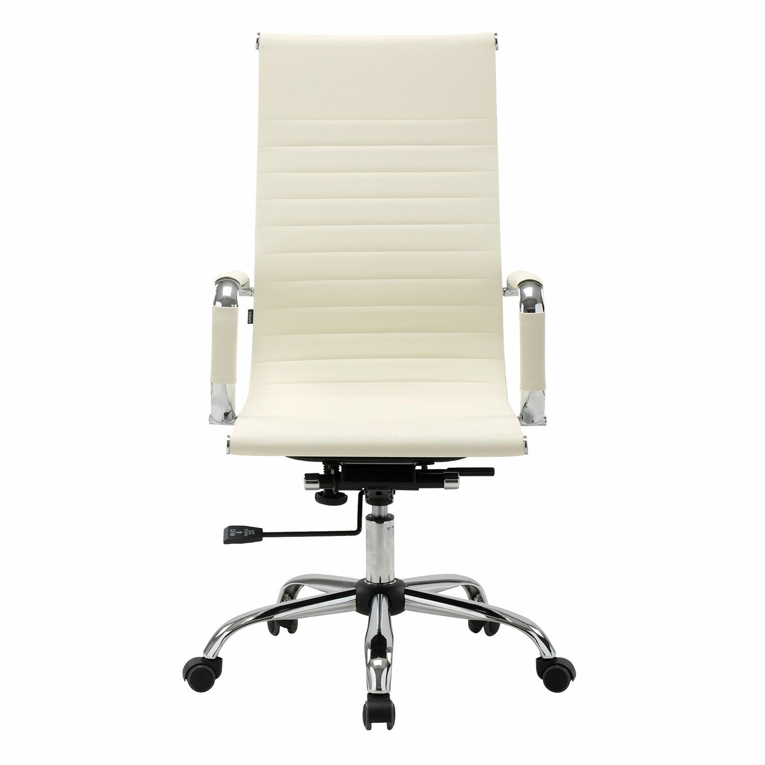 """Office chair BRABIX """"Energy EX-509"""", recycled leather, chrome, beige"""