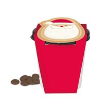 Red Cup with chocolate 'Santa Claus'