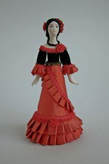 Doll gift. Spanish Carmen, box