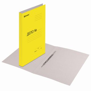 File folder cardboard coated BRAUBERG, guaranteed density 360 g/m2, yellow, up to 200 sheets