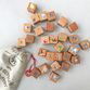 Dice 'My first alphabet', 30 PCs in a linen pouch