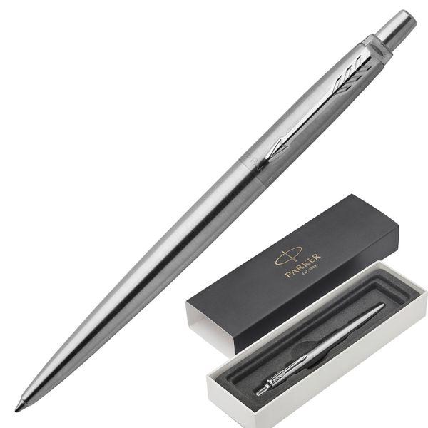 Ballpoint pen PARKER 'Jotter Core Stainless Steel CT', building silver, chrome, blue