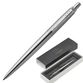 Ballpoint pen PARKER 'Jotter Core Stainless Steel CT', building silver, chrome, blue - view 1