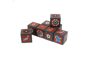 "Souvenir cubes with elements of the account ""Good News"" hand-painted"